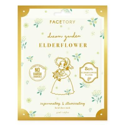 Facetory Dream Garden Elderflower Rejuvenating and Illuminating Sheet Mask - 1.8 fl oz