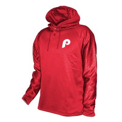 MLB Philadelphia Phillies Men's Hooded Henley Pullover