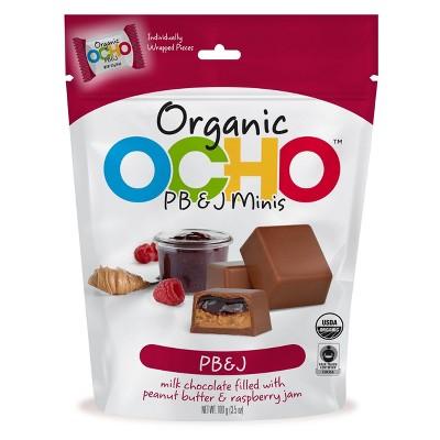 OCHO Candy Organic Milk Chocolate PBJ Mini Pouch - 3.5oz