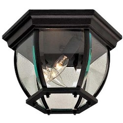 "The Great Outdoors GO 71174 3 Light 10.75"" Width Flush Mount Ceiling Fixture"