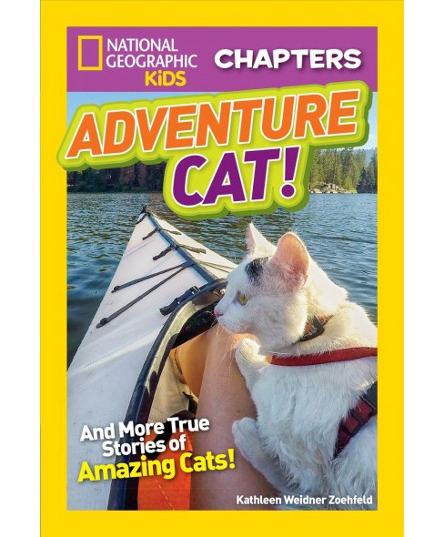 Adventure Cat! : And More True Stories of Amazing Cats! -  by Kathleen Weidner Zoehfeld (Paperback) - image 1 of 1