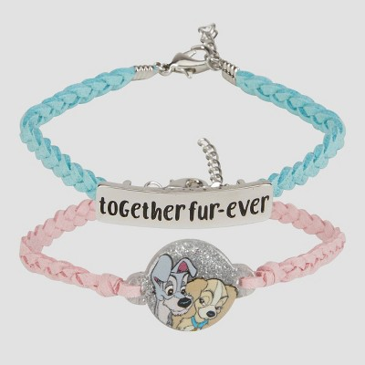 Girls' Disney Lady & The Tramp 2pc Friendship Bracelet - Disney Store