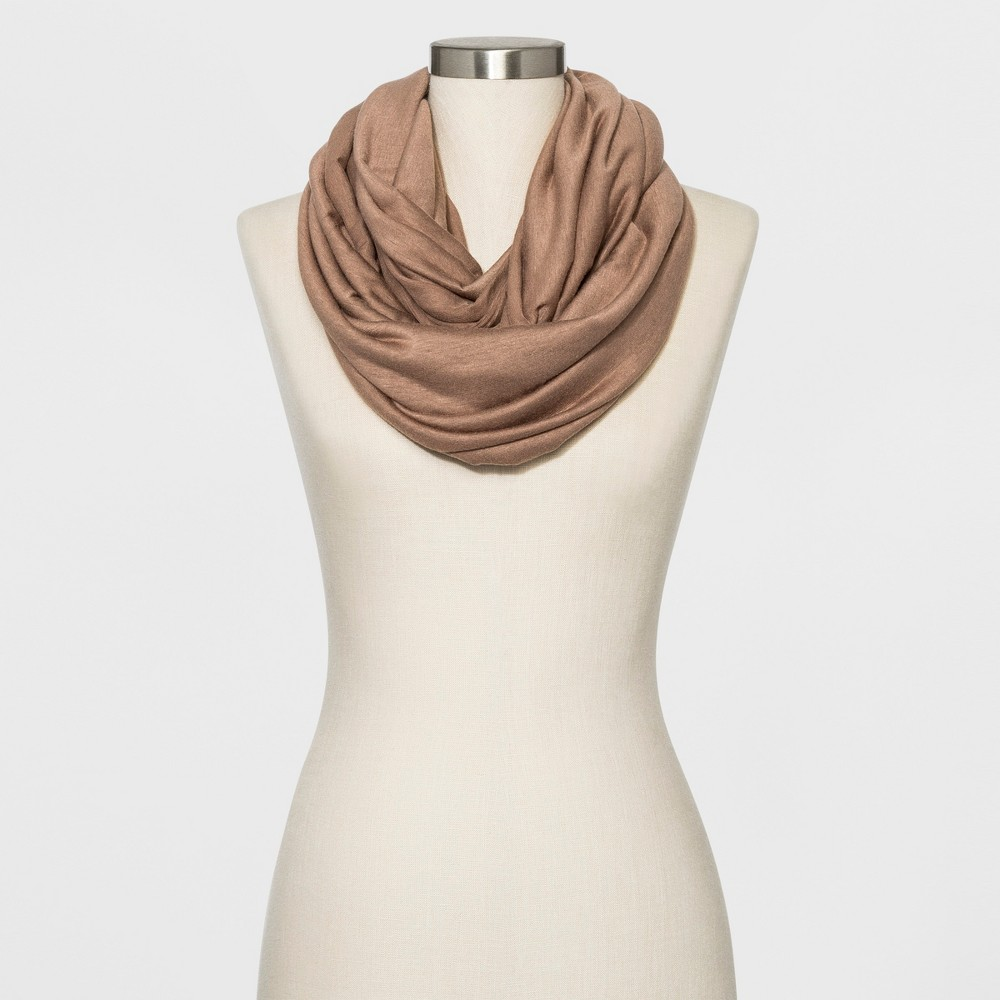 Image of Collection XIIX Women's Loop Scarf - Dark Tan, Size: Small, Beige