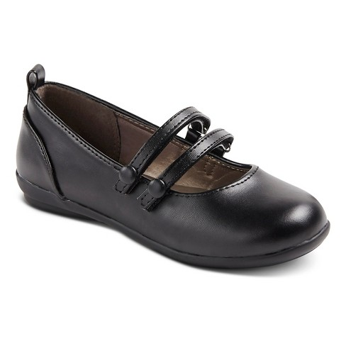 French Toast Girls' Caitlyn Ballet Flats - Black - image 1 of 3