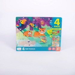 Chuckle & Roar 4pk of Tray Puzzles - 12 and 24pcs