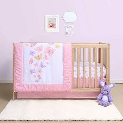 The Peanutshell Belle Butterfly 4pc Crib Bedding Set