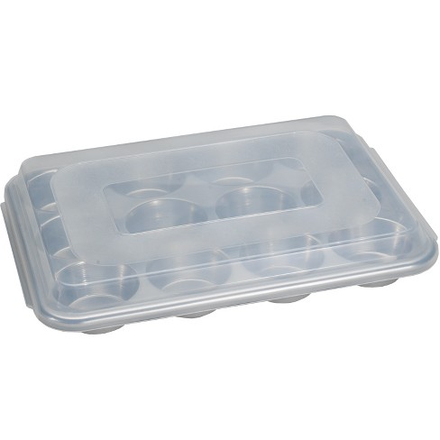 Nordic Ware Natural Aluminum Commercial Muffin Pan with Lid, 12 Cup - image 1 of 3
