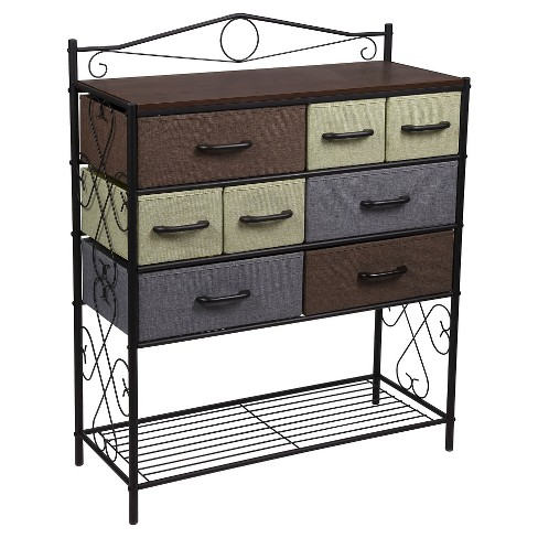 Household Essentials 8-Drawer Storage Cabinet with Bottom Shelf - image 1 of 4