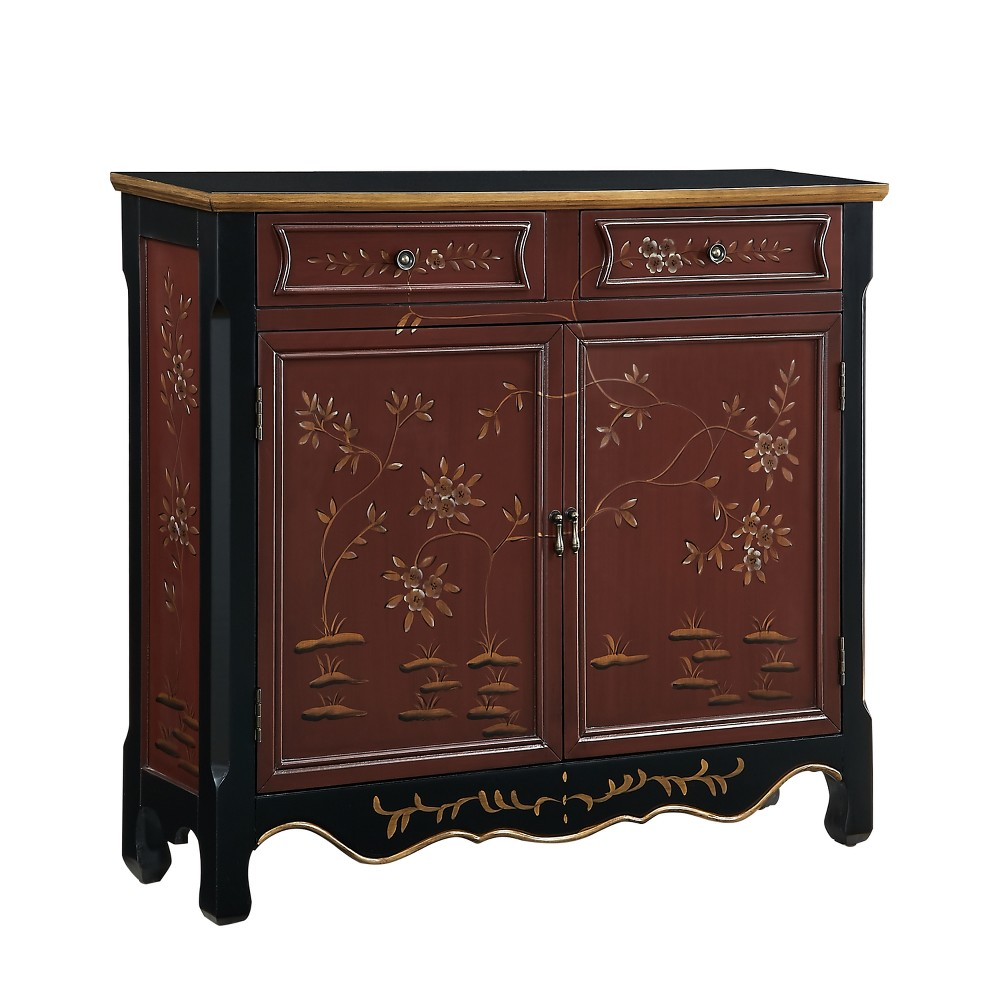 Jenny Hand Painted 2Door Console Red - Powell Company
