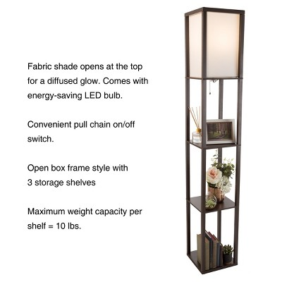 Torchiere Floor Lamp Brown (Includes Energy Efficient Light Bulb)   Lavish  Home : Target