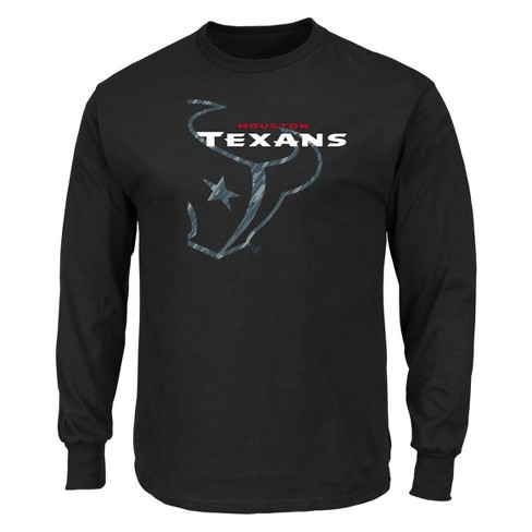 cfd35d15d Houston Texans Men s Point Of Attack Black Long Sleeve T-Shirt S ...