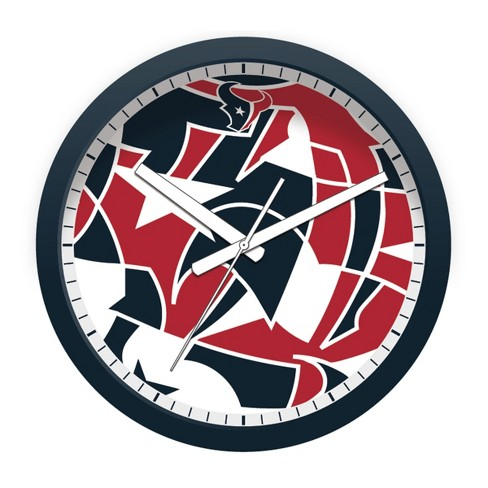 Hot NFLxFIT Houston Texans 12 Round Wall Clock