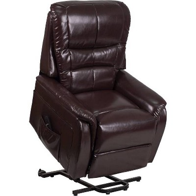 Hercules Series Remote Powered Lift Recliner Leather - Riverstone Furniture Collection