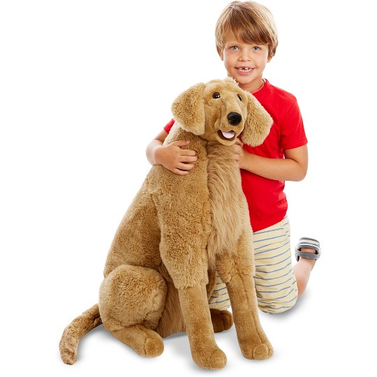 Melissa & Doug Giant Golden Retriever - Lifelike Stuffed Animal Dog (over 2 feet tall) image number null