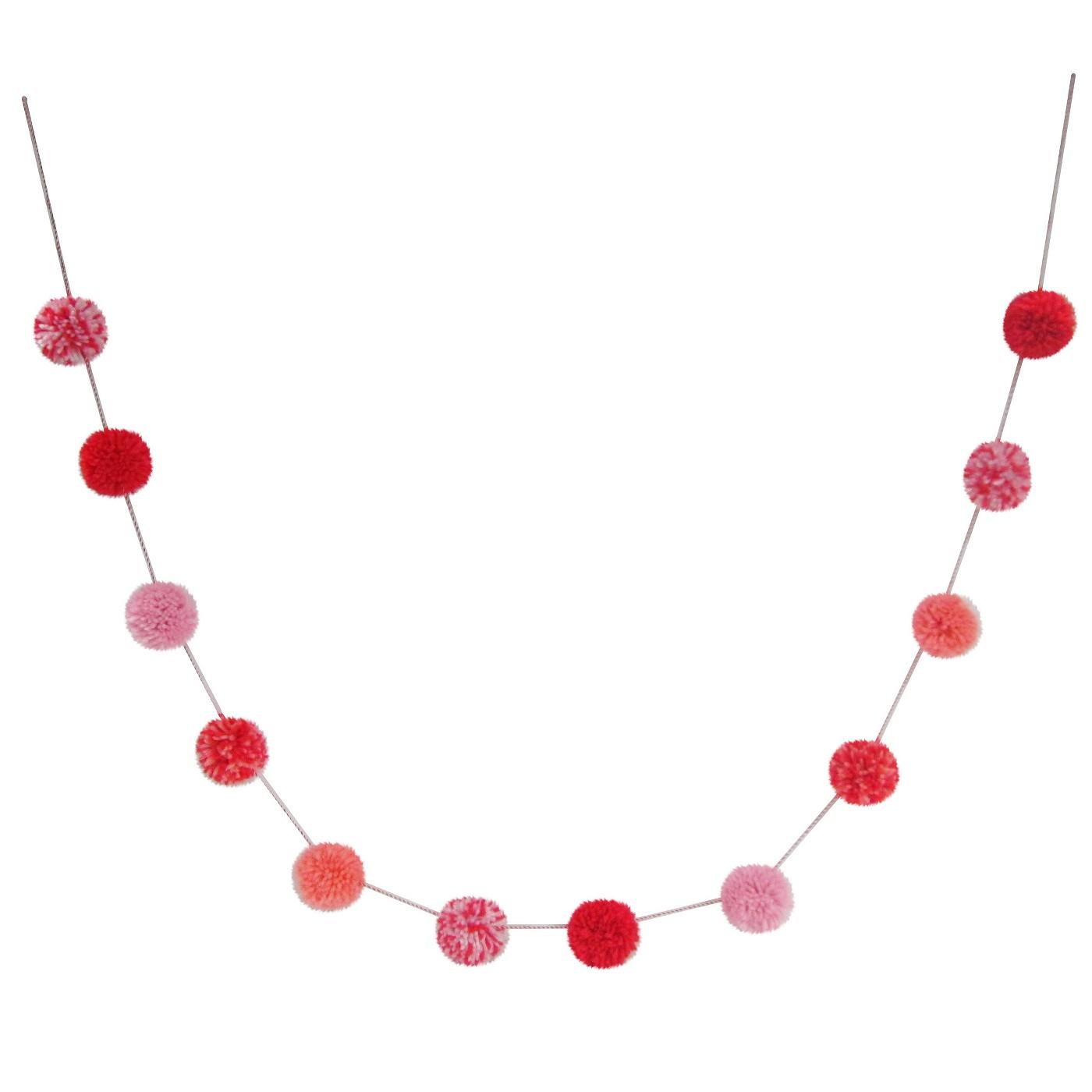 Valentine's Day Pompom Garland - Spritz™ - image 1 of 1