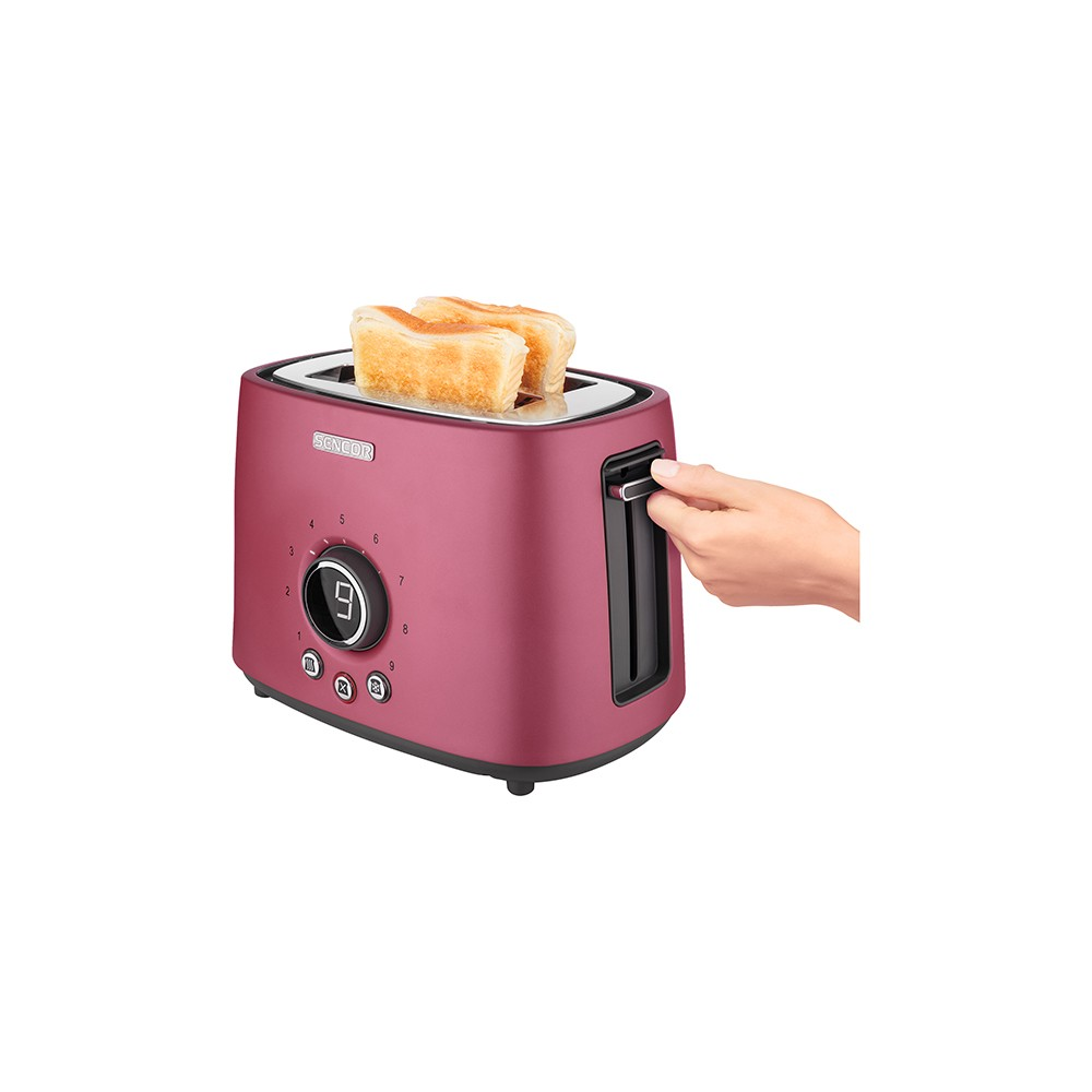 Sencor Metallic 2 Slice Toaster – Red 54279455