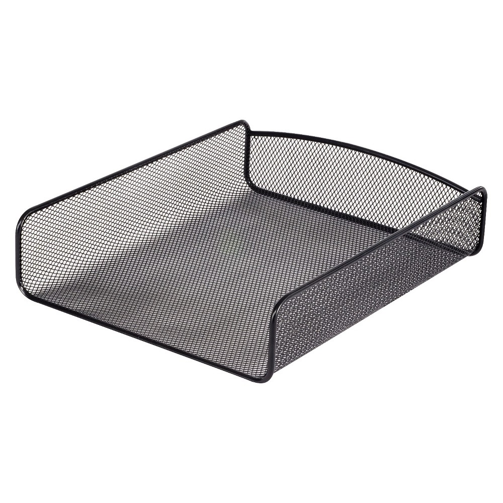 Image of Safco Desk Tray, Single Tier, Steel Mesh, Letter, Black