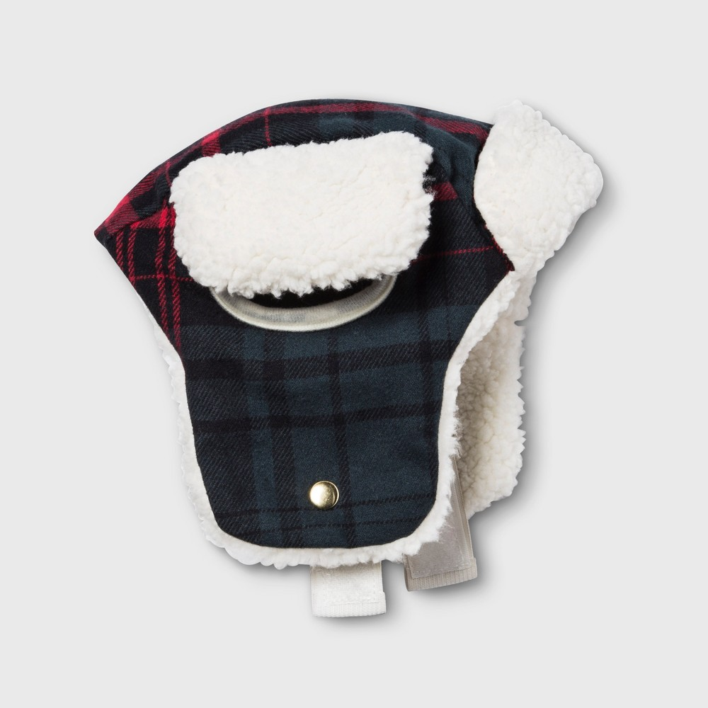 Pet Plaid Trapper Hat - Blue/Red XS - Hearth & Hand with Magnolia, Blue Red White