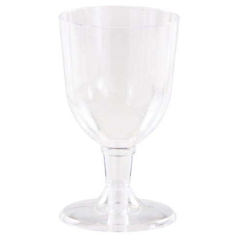 6ct Clear Plastic Wine Glass - image 1 of 1