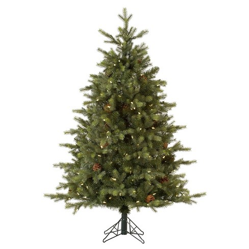 7.5ft Pre-Lit LED Artificial Christmas Tree Full Mountain - Clear Lights - image 1 of 2