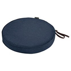 Montlake Fadesafe Round Patio Dining Seat Cushion Set - Heather Indigo Blue - Classic Accessories