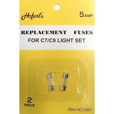 J. Hofert Co 10ct Replacement Fuses for C7 or C9 Light Strings - 5 Amps