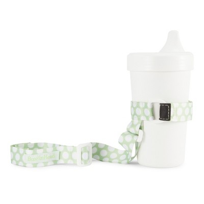 BooginHead SippiGrip Sippy Cup strap Sippy Cup Holder - Green Dots