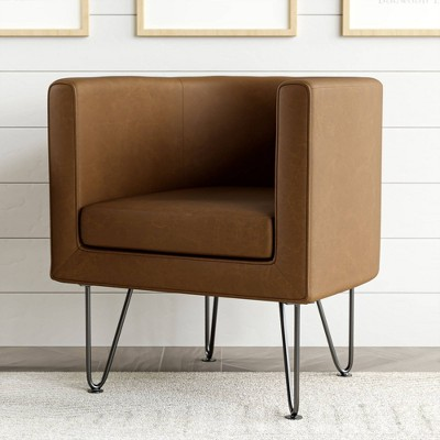 Claire Upholstered Barrel Accent Chair with Hairpin Legs - Brookside Home