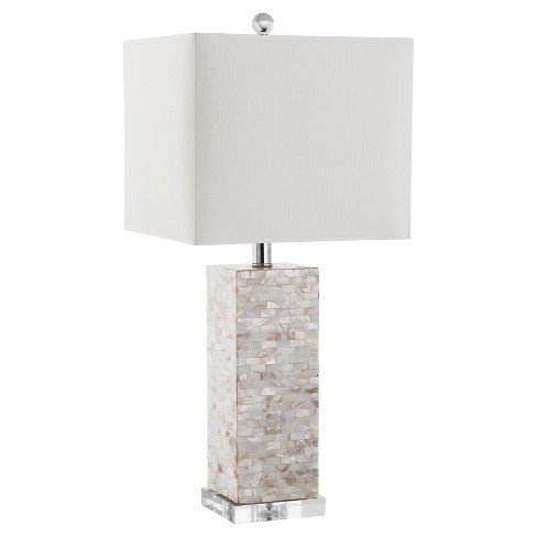 "26"" Homer Shell Table Lamp Cream (Includes Energy Efficient Light Bulb) - Safavieh - image 1 of 2"