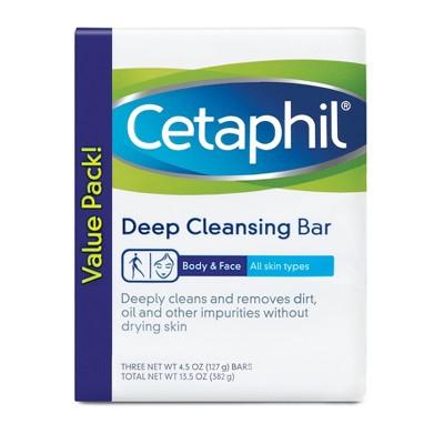 Bar Soap: Cetaphil Deep Cleansing Bar