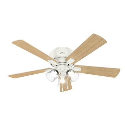 "52"" LED Crestfield Low Profile Ceiling Fan (Includes Light Bulb) - Hunter"