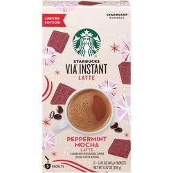 Starbucks VIA Instant Peppermint Mocha Latte - 5ct
