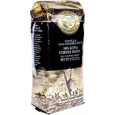 Royal Kona Vanilla Macadamia Nut Medium Roast Ground Coffee - 8oz