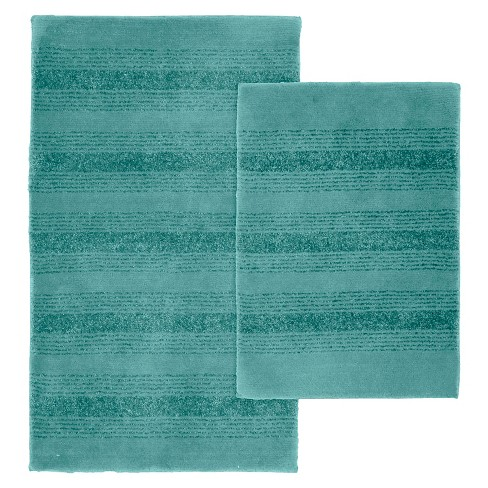 2pc Essence Washable Nylon Bath Rug Set, 3 Piece Bathroom Rug Set Target