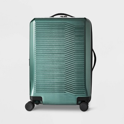 "Hardside 21"" Carry On Suitcase Dark Green - Open Story™"