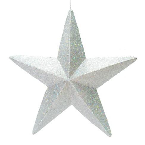 Vickerman 23 Silver Glitter Star Christmas Ornament Target