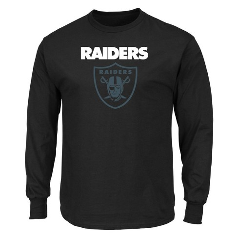 Oakland Raiders Men's Point of Attack Black Long Sleeve T-Shirt S - image 1 of 2