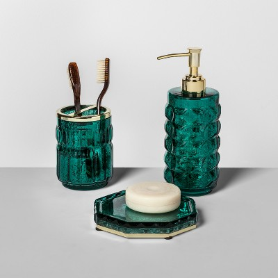Indo Chic Mercury Glass Toothbrush Holder Green - Opalhouse™