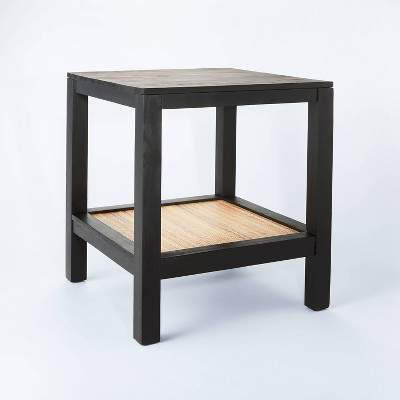 Canyon Lake Woven Shelf End Table Black - Threshold™ designed with Studio McGee