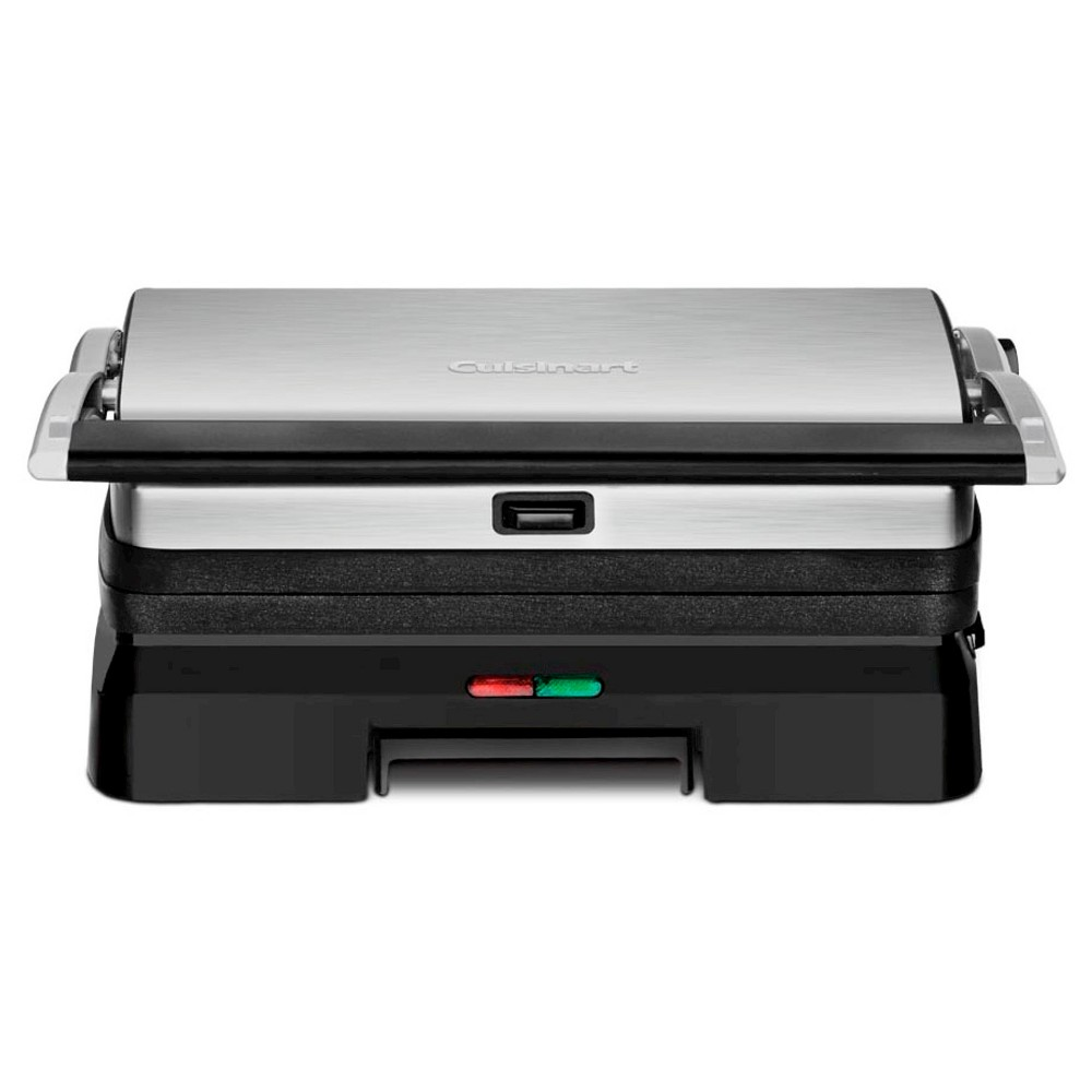 Image of Cuisinart Griddler Grill and Panini Press - Stainless Steel GR-11, Black