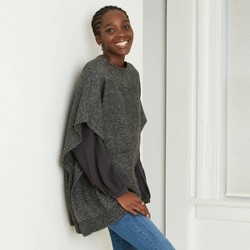 Women's Poncho Sweater - Universal Thread™ One Size