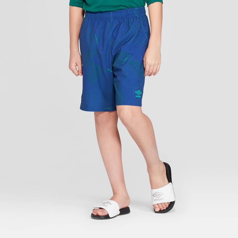 Umbro Boys' Woven Performance Shorts - Blue L