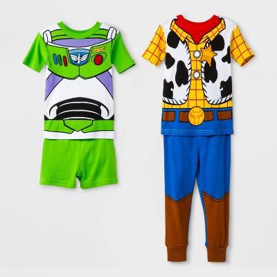 Baby Boys' Toy Story 4pc Pajama Set - Blue/Green/Yellow 12M