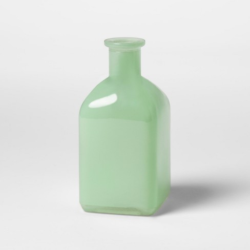 Square Milk Glass Vase Green Hearth Hand With Magnolia Target