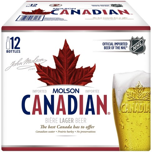Molson Canadian Beer - 12pk/12 fl oz Bottles - image 1 of 2