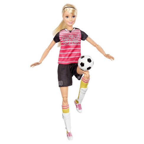 6808c4b93 Barbie® Made To Move Soccer Player Doll : Target