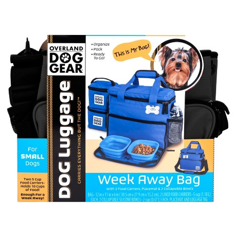 Overland Dog Gear Travel Bag Week Away For Small Dogs With 2 Food Carriers Placemat Bowls Target