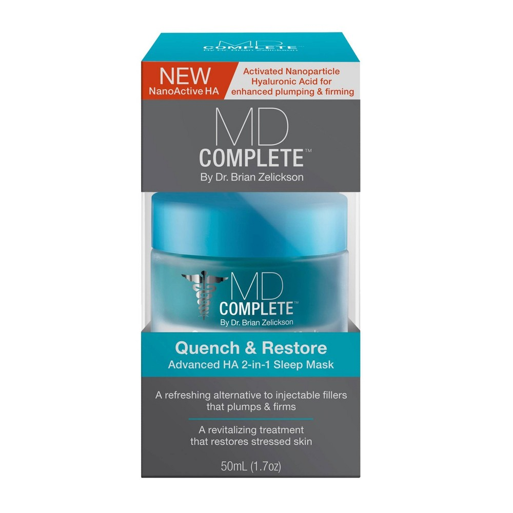 Image of MD Complete Quench & Restore Hyaluronic Acid 2-in-1 Sleep Mask – 1.7oz