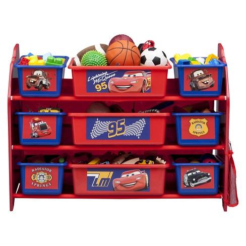 9 bin plastic toy organizer disney pixar cars delta children target
