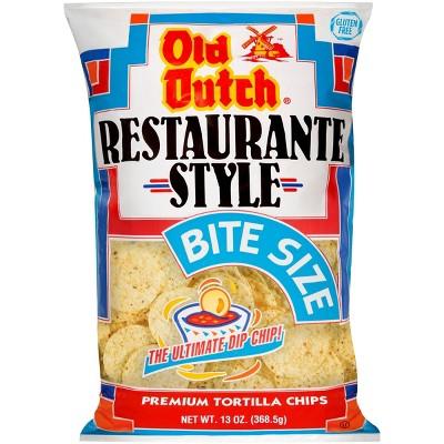 Old Dutch Restaurante Style Bite Size Tortilla Chips - 13oz